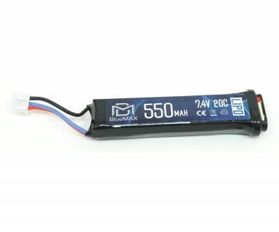 Аккумулятор BlueMAX Li-Po 7.4V 550mah 20C, для AEP пистолетов
