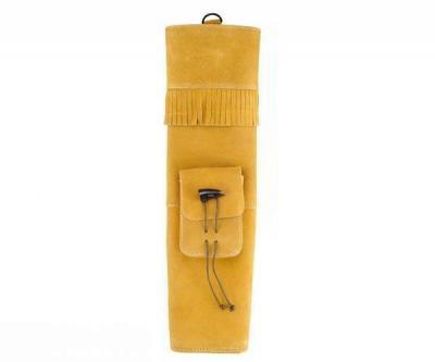 Колчан замшевый желто-коричневый (застежка-рог буйвола)