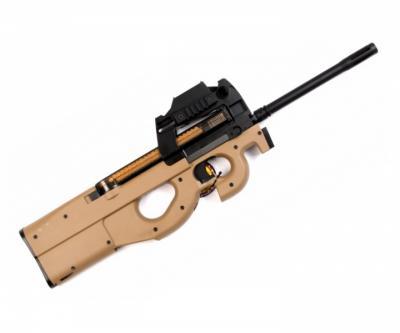 Страйкбольный пистолет-пулемет G&G PDW 99 Long Desert (P90 L) TGF-S90-STD-DNB-NCM