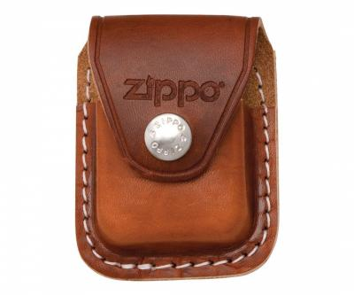 Чехол для зажигалки Zippo LPCB из кожи, с клипом, коричневый