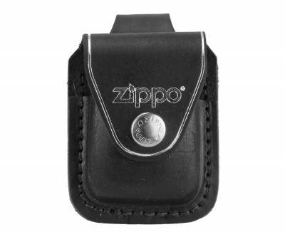 Чехол для зажигалки Zippo LPLBK из кожи, с петлей, черный