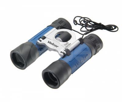 Бинокль Veber Sport NEW БН 12x25 синий, серебристый
