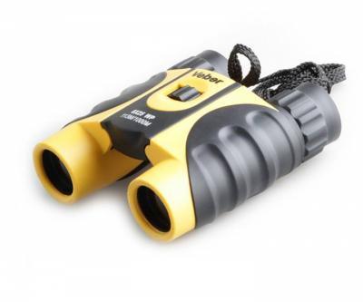 Бинокль Veber WP 8x25 черный, желтый