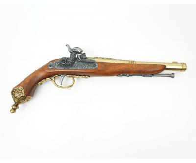 Макет пистолет кремневый Бресция, латунь (Италия, 1825 г.) DE-1013-L