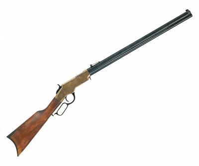 Макет винтовка Генри, восьмиугольный ствол, латунь (США, 1860 г.) DE-1030-L