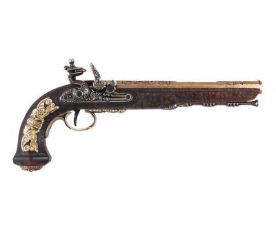 Макет пистолет дуэльный мастера Буте, латунь (Франция, 1810 г.) DE-1084-L