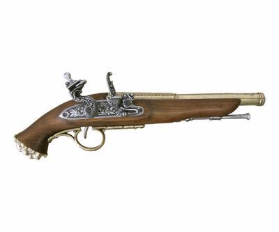 Макет пистолет кремневый пиратский, латунь (XVIII век) DE-1103-L