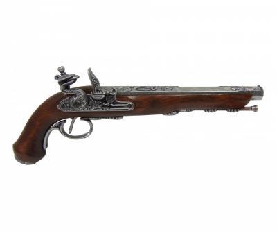 Макет пистолет для дуэли, Версаль, под серебро (Франция, 1810 г.) DE-1134-G