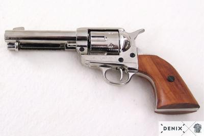 Макет револьвер Кольт Peacemaker, .45 калибра, никель (США, 1873 г.) DE-1186-NQ