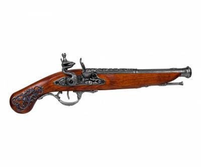 Макет пистолет кремневый, сталь (Англия, XVIII век) DE-1196-G