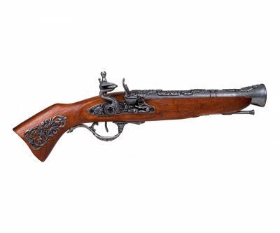 Макет пистолет кремневый «Мушкетон», сталь (Австрия, XVIII век) DE-1231-G