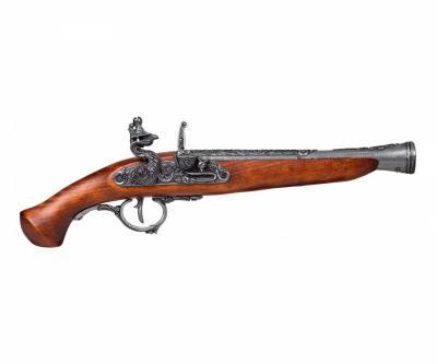 Макет пистолет кремневый, сталь (Германия, XVII век) DE-1260-G