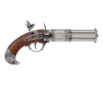 Макет пистолет кремневый четырехдульный (Франция, XVIII век) DE-1307