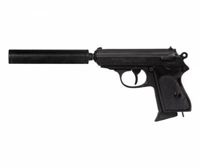 Макет пистолет Вальтер PPK с глушителем (Германия, 1931 г.) DE-1311