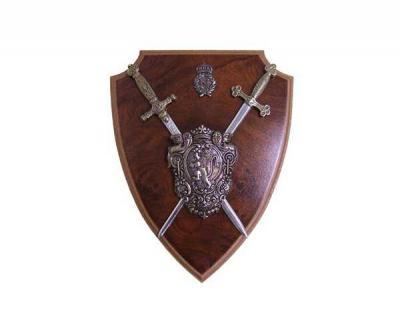 Панно, щит Наполеона, с двумя мечами (DE-525)