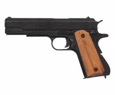 Макет пистолет Colt M1911A1, .45 калибра, светлое дерево (США, 1911 г.) DE-8312
