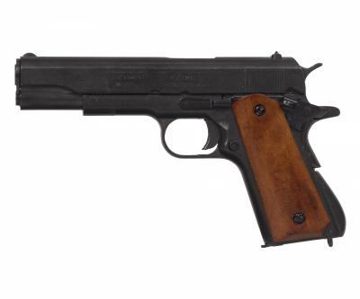 Макет пистолет Colt M1911A1, .45 калибра, темное дерево (США, 1911 г.) DE-9312