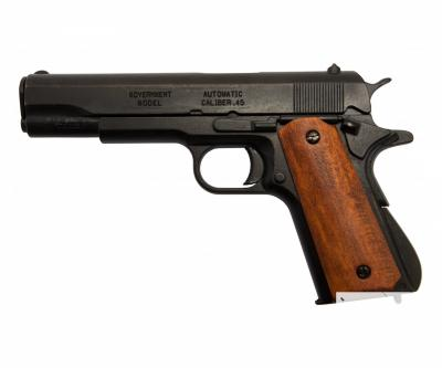 Макет пистолет Colt M1911A1, .45 калибра, темное дерево (США, 1911 г.) DE-9316