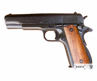 Макет пистолет Colt M1911, .45 калибра, светлое дерево (США, 1911 г.) DE-M-1227
