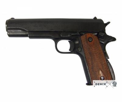 Макет пистолет Colt M1911, .45 калибра, темное дерево (США, 1911 г.) DE-P-1227