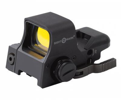 Коллиматорный прицел Sightmark Ultra Dual Shot Pro Spec NV, 4 марки, 2 режима для ПНВ, с ЛЦУ (SM14003)