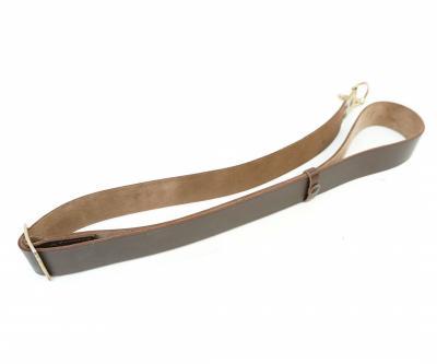 Ремень оружейный для АК (1 карабин) коричневая кожа