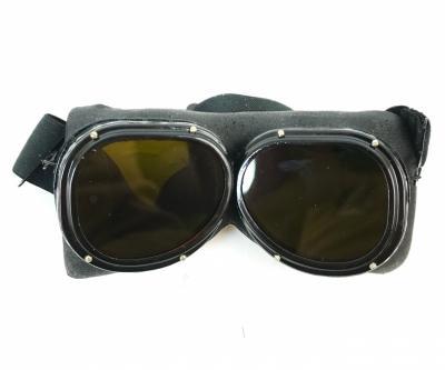 Очки защитные ОЗП против вспышки, кож. оправа, в пластик. чехле на ремень, раритет