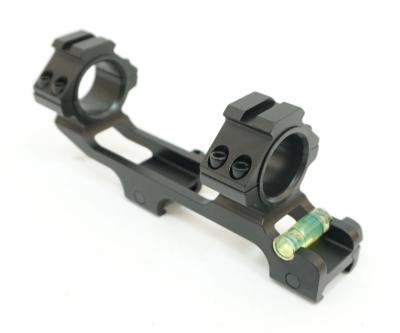 Кронштейн 25/30 мм облегченный монолит на Weaver, с выносом и уровнем (BH-MS22)