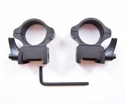 Кольца 25,4 мм быстросъемные на Weaver, флажковые стальные (BH-RS20)