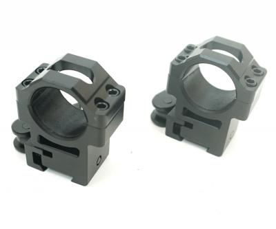 Кольца Leapers UTG 25,4 мм быстросъемные на 11 мм, с рычажным зажимом, высокие (RQ2D1204)