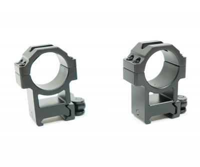 Кольца Leapers UTG 30 мм быстросъемные на Weaver, с рычажным зажимом, высокие (RQ2W3224)