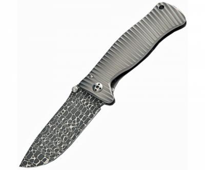 Нож складной LionSteel SR-1 Damascus SR1DL G