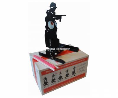 Мишень фигурная подъёмная «Солдат» Ф5, металл 3 мм