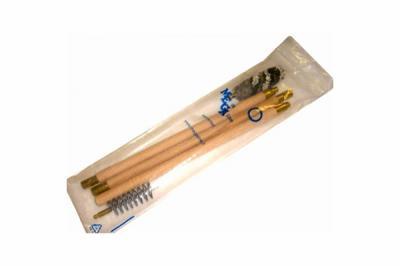 Набор для чистки MegaLine в п/э пакете, дерев. шомпол, 3 ерша, 20 к.