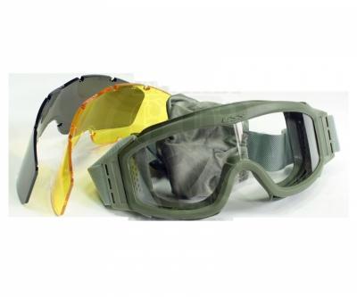 Очки защитные Daisy Tactical XT, 3 сменные линзы, Green (TD-RK3-G)