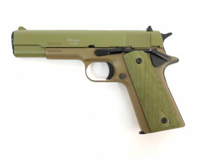 Охолощенный СХП пистолет 1911-СО Kurs (Colt) 10x24, хаки зеленый