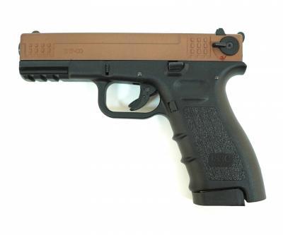 Охолощенный СХП пистолет K17-СО Kurs (Glock 17) 10ТК, бронза/черный