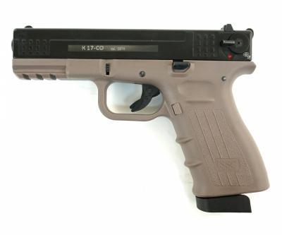 Охолощенный СХП пистолет K17-СО Kurs (Glock 17) 10ТК, песочный/черный