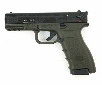 Охолощенный СХП пистолет K17-СО Kurs (Glock 17) 10ТК, зеленый/черный