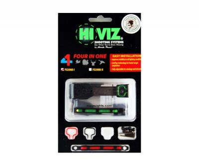 Оптоволоконная мушка HiViz FO2008-II 4 мушки в 1 для планки 7,9 мм и 9,7 мм