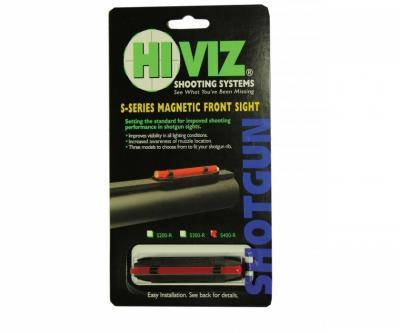 Оптоволоконная мушка HiViz S400-R красная широкая 8,2 - 11,3 мм