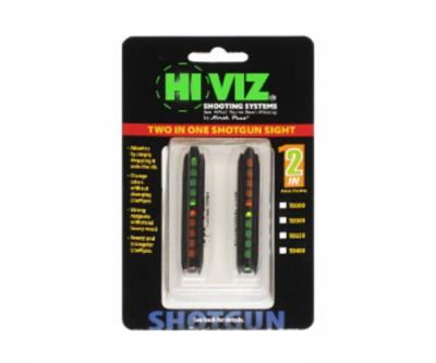 Оптоволоконная мушка HiViz TO200 2 мушки в 1 (ширина планки 4,2 мм - 6,7 мм)