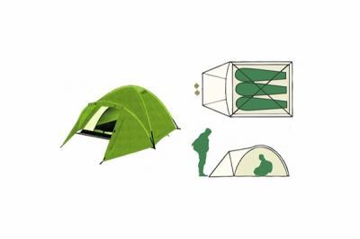 Палатка туристическая Remington 3-местная (210+110)*180*130