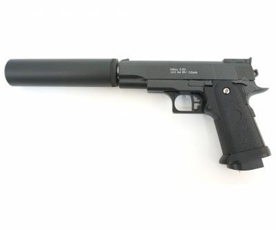 Страйкбольный пистолет Galaxy G.10A (Colt 1911 mini) с глушителем