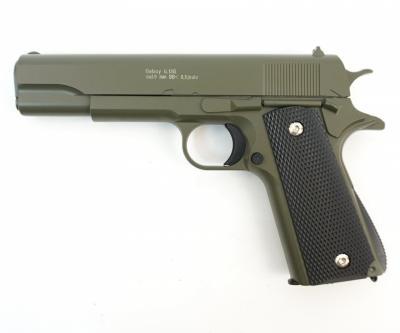 Страйкбольный пистолет Galaxy G.13G (Colt 1911) зеленый