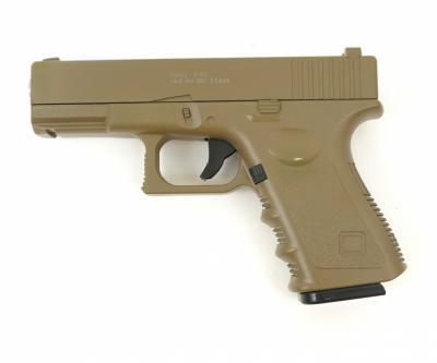Страйкбольный пистолет Galaxy G.15D (Glock 17) песочный