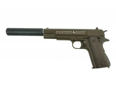 Страйкбольный пистолет Smart K116DS (Colt 1911, с глушителем) G.17.4