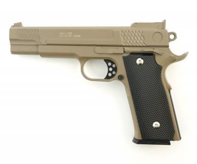 Страйкбольный пистолет Galaxy G.20D (Browning HP) песочный