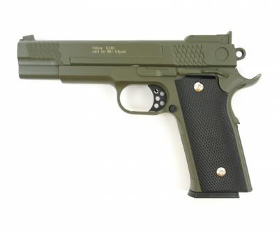 Страйкбольный пистолет Galaxy G.20G (Browning HP) зеленый