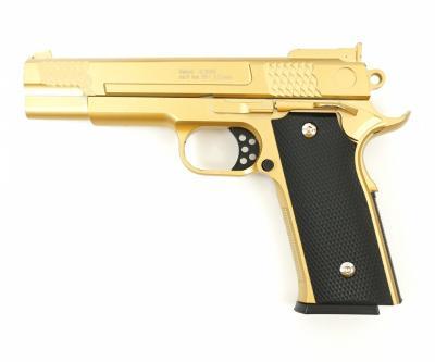 Страйкбольный пистолет Galaxy G.20GD (Browning HP) золотистый